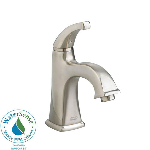 American Standard Town Square Monoblock Single Hole 1-Handle Mid-Arc Bathroom Faucet in Satin Nickel 541559