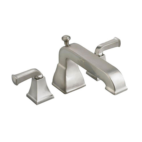 American Standard Town Square 2-Handle Deck-Mount Roman Tub Filler in Satin Nickel with Less Personal Shower 541692