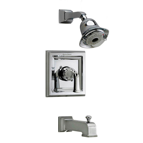 American Standard Town Square 1-Handle Tub and Shower Faucet Trim Kit in Polished Chrome (Valve Not Included) 541756