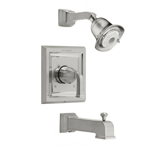American Standard Town Square 1-Handle 3-Function Tub and Shower Faucet Trim Kit in Satin Nickel with Less Rough Valve Body 541759