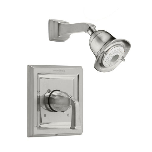 American Standard Town Square 1-Handle Shower Faucet Trim Kit in Satin Nickel (Valve Not Included) 541776