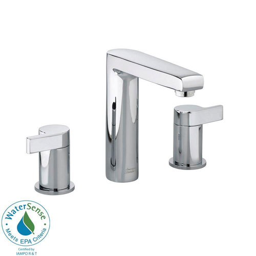 American Standard Studio 8 inch Widespread 2-Handle Mid-Arc Bathroom Faucet in Polished Chrome 541828