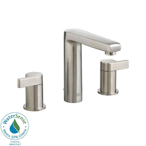 American Standard Studio 8 inch Widespread 2-Handle Mid-Arc Bathroom Faucet in Satin Nickel 541831