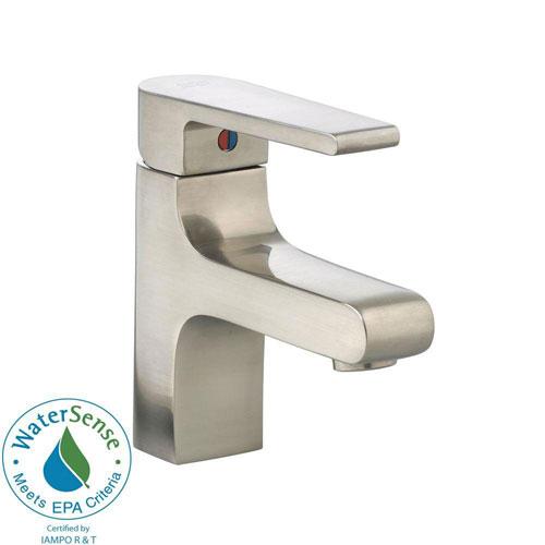 American Standard Studio Monoblock Single Hole 1-Handle Mid-Arc Bathroom Faucet in Satin Nickel 541851