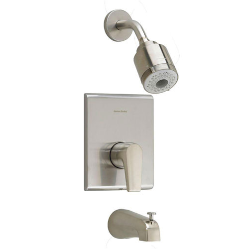 American Standard Studio 1-Handle Tub and Shower Faucet Trim Kit in Satin Nickel (Valve Not Included) 541960