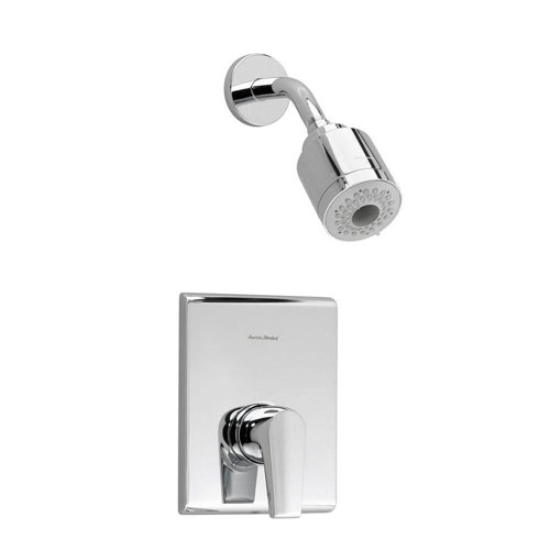 American Standard Studio 1-Handle Shower Faucet Trim Kit in Polished Chrome (Valve Not Included) 541964
