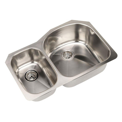 American Standard Prevoir Undermount Stainless Steel 31.5x20.56x9 inch 0-Hole Double Combo Bowl Kitchen Sink 549751