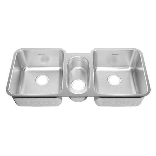 American Standard Prevoir Undermount Brushed Stainless Steel 41x18.75x9 inch 0-Hole Triple Bowl Kitchen Sink 549763