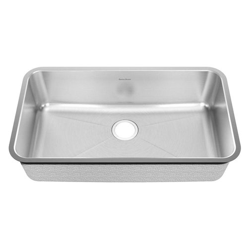 American Standard Prevoir Undermount Brushed 32.75x18.75x9 inch 0-Hole Single Bowl Kitchen Sink 549767