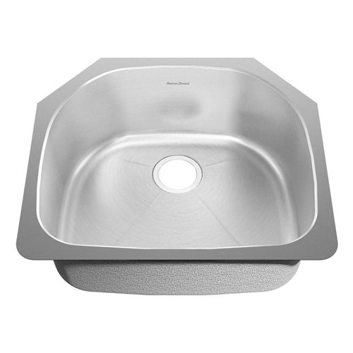 American Standard Prevoir Undermount Brushed Stainless Steel 23.38x20.88x9 inch 0-Hole Single Bowl Kitchen Sink 549770
