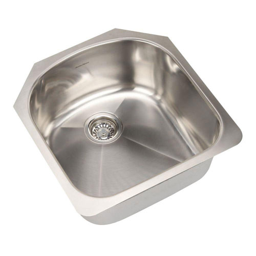 American Standard Prevoir Undermount Brushed Stainless Steel 19.875x20.625x9 inch 0-Hole Single Bowl Kitchen Sink 549771