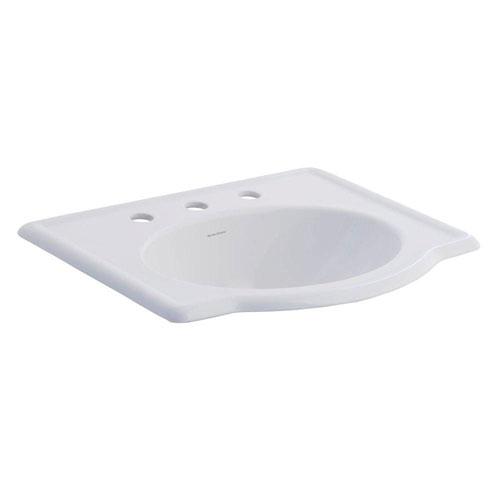 American Standard Retrospect Self-Rimming Drop-in Bathroom Sink in White 572205