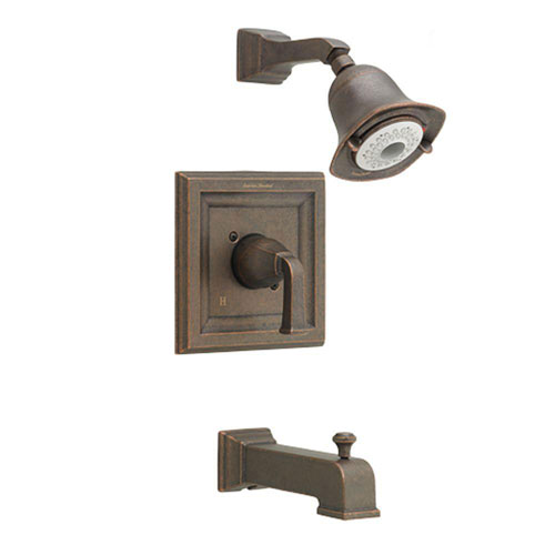 American Standard Town Square 1-Handle Tub and Shower Faucet Trim Kit with FloWise Showerhead in Oil Rubbed Bronze (Valve Not Included) 574619