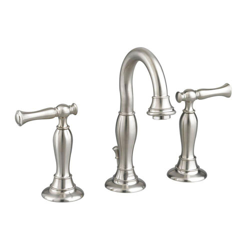 American Standard Quentin 8 inch Widespread 2-Handle High Arc Bathroom Faucet in Satin Nickel 574689