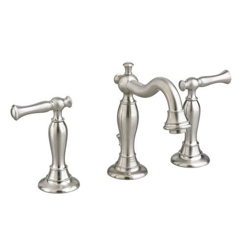 American Standard Quentin 8 inch Widespread 2-Handle Mid Arc Bathroom Faucet in Satin Nickel 574692
