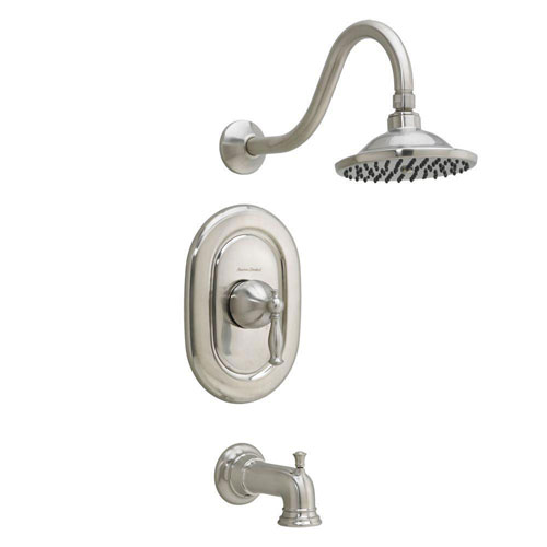 American Standard Quentin 1-Handle Tub and Shower Faucet Trim Kit in Satin Nickel (Valve Not Included) 574710
