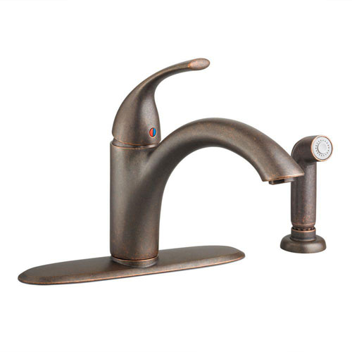 American Standard Quince Single-Handle Side Sprayer Kitchen Faucet in Oil Rubbed Bronze 574726