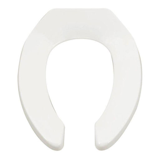 American Standard Commercial Elongated Open Front Toilet Seat Less Cover in White 577226
