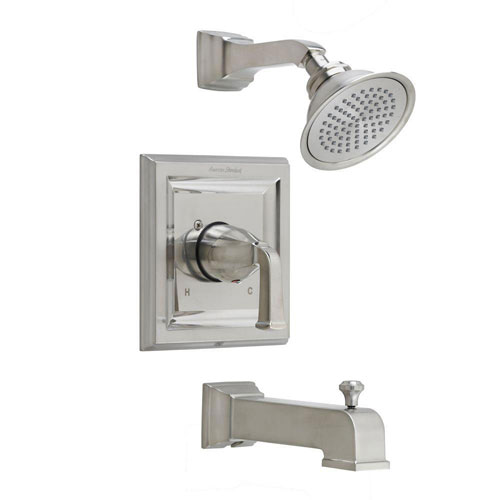 American Standard Town Square 1-Handle Tub and Shower Trim Kit with Volume Control in Satin Nickel (Valve Not Included) 588538