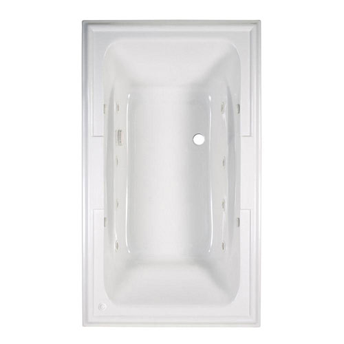 American Standard Town Square EcoSilent 6 foot Whirlpool and Air Bath Tub with Chromatherapy in White 588608
