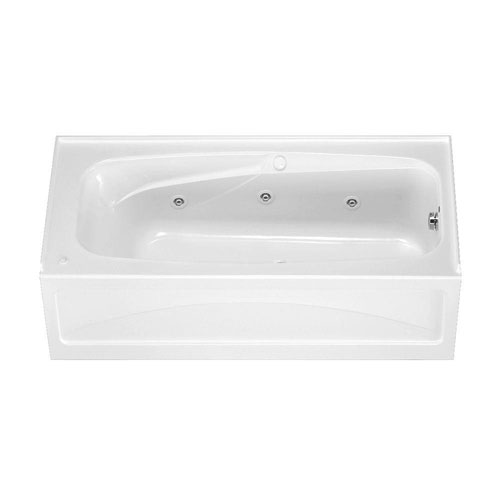 American Standard Colony 5.5 foot Whirlpool Tub with Right Drain and Integral Apron in White 591697
