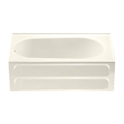 American Standard Collection 5 foot Bathtub with Left Hand Drain in Linen 627201