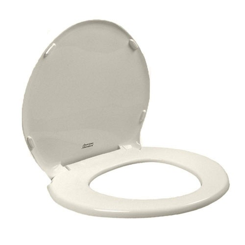 American Standard 5330.010.222 Champion Slow Close Round Front Toilet Seat with Cover, Linen 629461