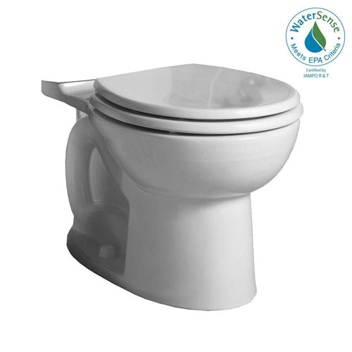 American Standard Cadet 3 FloWise Right Height Round Toilet Bowl Only in White 634146