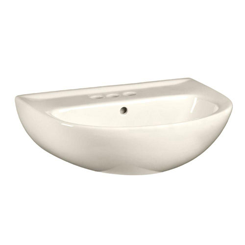 American Standard Evolution 5-1/2 inch Pedestal Sink Basin with 4 inch Faucet Centers in Linen 639616