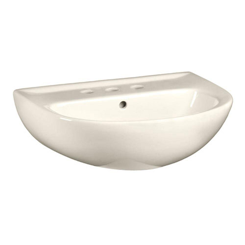 American Standard Evolution 5-1/2 inch Pedestal Sink Basin with 8 inch Faucet Centers in Linen 639623