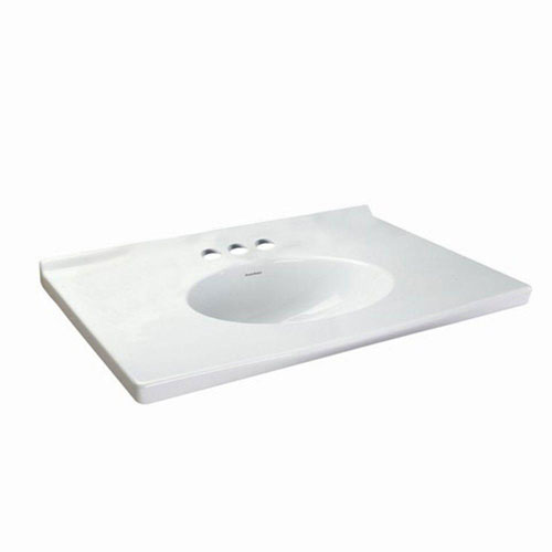 American Standard Portsmouth 31-1/8 inch Fine Fire Clay Vanity Top in White with White Basin 641117