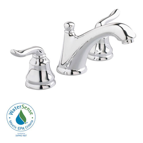American Standard Princeton 8 inch Widespread 2-Handle Low-Arc Bathroom Faucet in Polished Chrome with Speed Connect Drain 641173