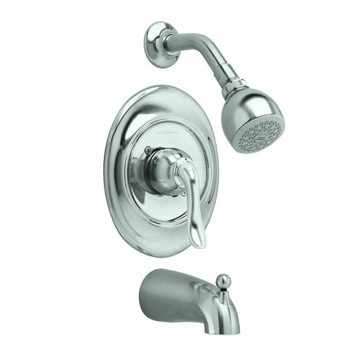 American Standard Princeton 1-Handle Tub and Shower Faucet Trim Kit in Satin Nickel (Valve Not Included) 641197