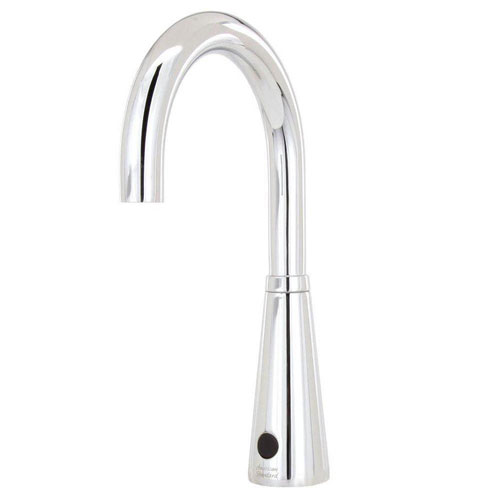 American Standard Selectronic DC Powered 0.5 GPM Touchless Lavatory Faucet with 6 inch Gooseneck Spout in Polished Chrome 644281