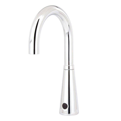 American Standard Selectronic DC Powered Touchless Lavatory Faucet with 6 inch Gooseneck Spout in Polished Chrome 644285