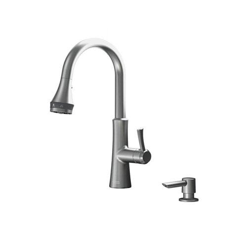 American Standard Huntley SelectFlo Single-Handle Pull-Down Sprayer Kitchen Faucet in Stainless Steel 681715