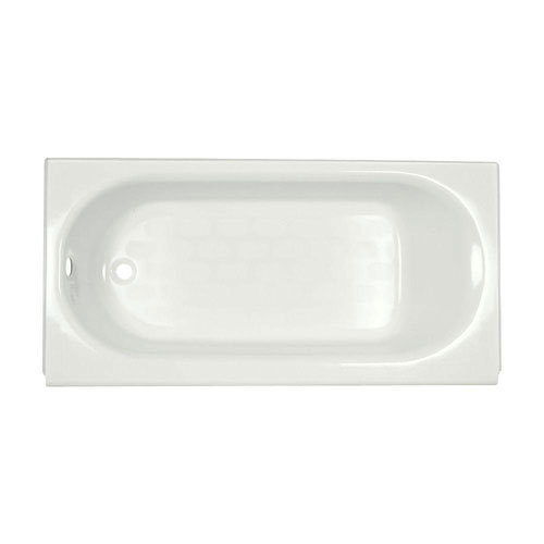 American Standard Princeton Luxury Ledge 5 foot by 34 Inch Americast Left Hand Drain Bathtub in White 735616