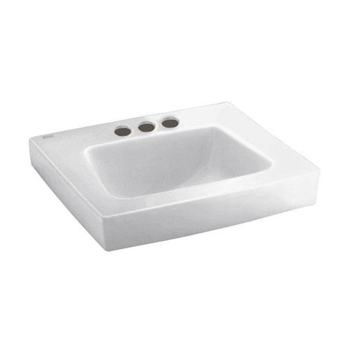 American Standard Roxalyn Wall Mount Bathroom Sink in White 736786