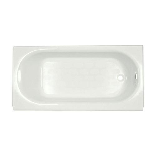 American Standard Princeton Above Floor Rough 5 foot by 30 Inch Right Drain Soaking Tub in White 842608
