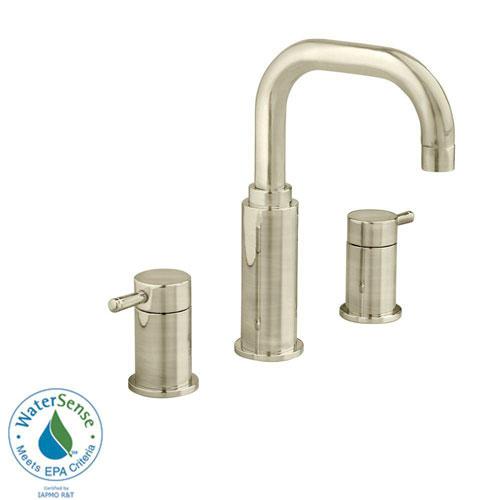 American Standard Serin 8 inch Widespread 2-Handle High-Arc Bathroom Faucet in Satin Nickel 84769