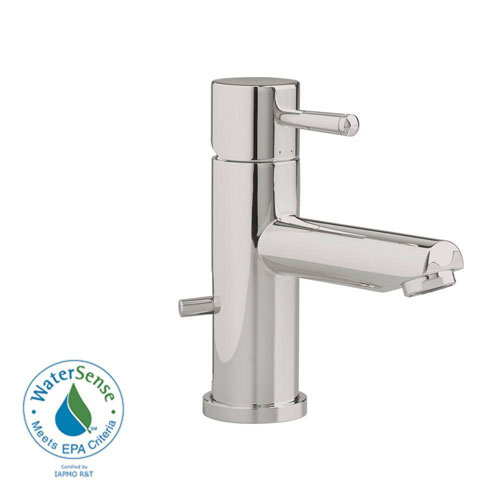 American Standard Serin Single Hole 1-Handle Low-Arc Bathroom Faucet with Speed Connect Drain in Satin Nickel 84797