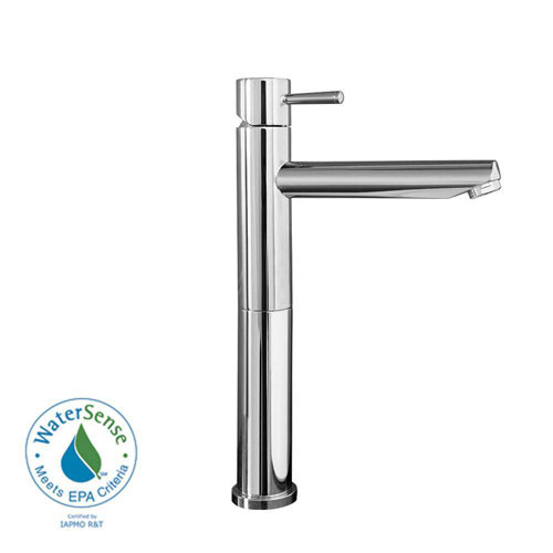 American Standard Serin Single Hole 1-Handle Mid-Arc Vessel Bathroom Faucet with Grid Drain in Chrome 84809