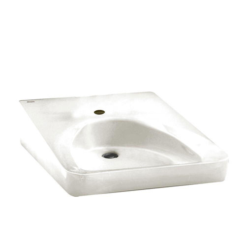 American Standard Wheelchair Users Wall-Mounted Bathroom Sink in White 893800