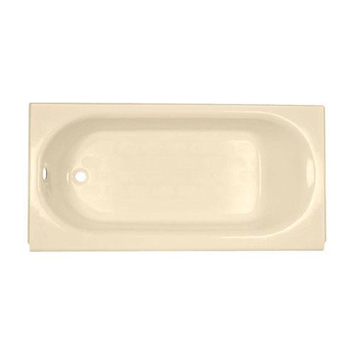 American Standard Princeton 5 foot by 30 Inch Americast Left-Hand Drain Bathtub in Bone 899866