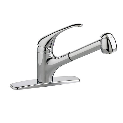 American Standard Reliant+ Single-Handle Pull-Out Sprayer Kitchen Faucet in Polished Chrome 920386