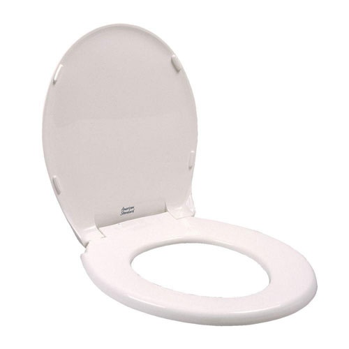 American Standard Rise and Shine Round Closed Front Toilet Seat in White 929422