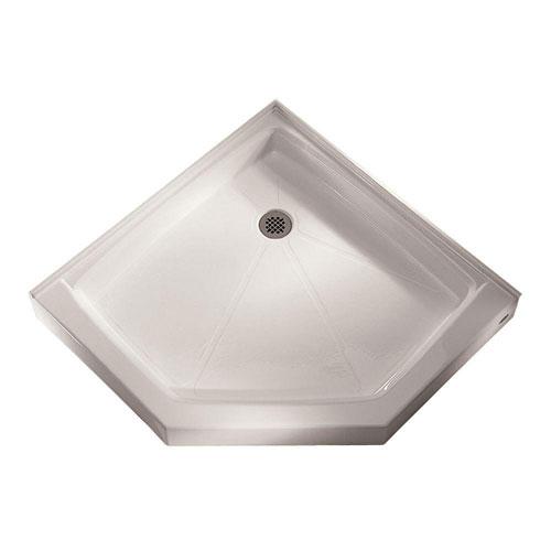 American Standard 42-1/4 inch x 42-1/8 inch Triple Threshold Shower Base in White 955027