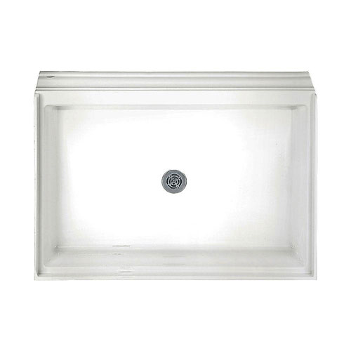 American Standard 34-1/8 inch x 60-1/8 inch Acrylic Single Threshold Shower Base in White 955036