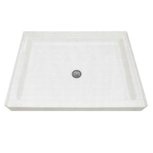 American Standard 48-1/8 inch x 34-1/4 inch Single Threshold Shower Base in White 955045