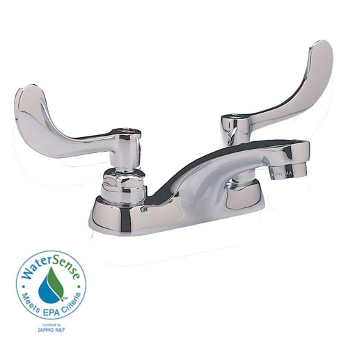 American Standard Monterrey 4 inch Centerset 2-Handle Bathroom Faucet without Drain Wrist Blade Handle in Chrome 979912